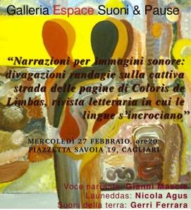 27 Febbraio _ galleria Espace